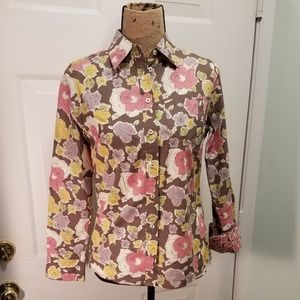 Boden Flower Blouse